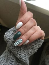 Mandelnägel für den Winter; Stiletto Nail Art Designs; Winter Nägel; Nägel für … – Winter Nails 2019