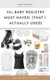 40 baby registry must haves that I actually used every single day! Newborn Essen…