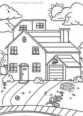 Malvorlage Haus Mit Garten Gebaude Kostenlose Ausmalbilder Malvorlagen Einfache Skizzen Fur Anfanger Ausmalen