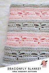 Libelle häkeln Decke [FREE]. Diese Libelle gehäkelte Decke … – Baby Diy