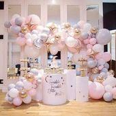 Schöne Glitter, Glitter Little Star Ballon Bogen mit Mond & Mond. Luftballons mit Sternen   – Babyshower