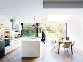 Real home: a light-filled open-plan kitchen diner and living space