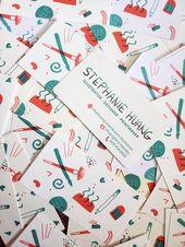 Illustrator Business Card design - personal business card | illustration  #risograph #risoprint #riso #bus...