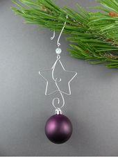 Stern Weihnachtsbaum Ornament Kleiderbügel Wire Star von WireExpressions