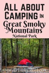Allt om camping i Great Smoky Mountains National Park