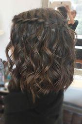 33 Romantische Looks mit einem Wasserfall-Braid-A Waterfall Braid: What & # 39; s …   – Short Hair