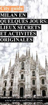 Metropolis information : mes bonnes adresses et activités à faire à Milan