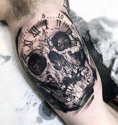 60 Badass Schädel Tattoos für Männer – Maskulin Design-Ideen – Mann Stil | Tattoo