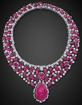 ufansius: Carved ruby and diamond necklace with ca…