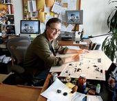 Illustrator Workspace Cartoonist Garry Trudeau in his studio in New York City.