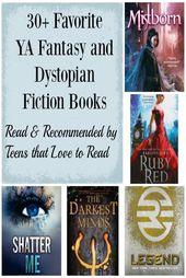 Livres de fiction préférés de YA Fantasy et Dystopian   – Work On It!