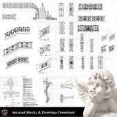 ★ 【Neoklassizistisches Dekor CAD-Design-Elemente V.9】 Neoklassizistisches Interieur, Inneneinrichtung, Traditionelle Inneneinrichtung, Dekoration   – FREE CAD BLOCKS & DRAWINGS DOWNLOAD CENTER