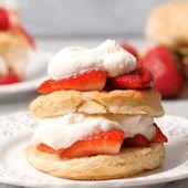 Classic Strawberry Shortcake Rezept ist ein Lieblingsdessert der Familie. Tender Shortca …