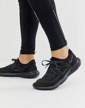 Nike Running Flex Contact 2 sneakers in triple black
