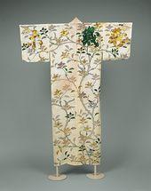 Kosode mit Muster aus Mandarinenbaum und Zeichen Periode: Edo-Periode (…   – Japanische Anregungen, Pojagi…
