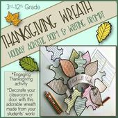 Thanksgiving Activity-Wreath-Acrostic Poem & Writing Prompt – Holidays