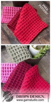 Waffle Stitch Dishcloth Free Crochet Patterns
