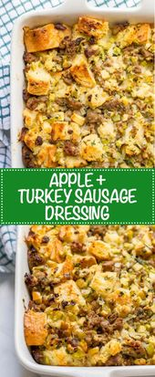 Turkey sausage and apple dressing – Family Food on the Table