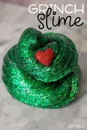 DIY Slime Kids will have a BLAST with this Grinch slime. It's the perfect slime recipe and...