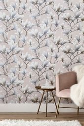 Buy Paste The Wall Glitter Floral Wallpaper from the Next UK online shop