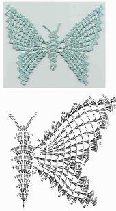 50+ kostenlose Häkelanleitungen für Schmetterlinge, #crochetpatrones #für #hakelanleitungen #…