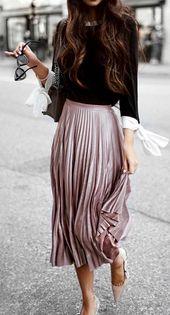 Pink, folded midi skirt #folded #midiskock #pinker – summer fashion ideas