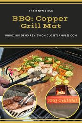 Yrym Ht Non Stick Copper Grill Mat Unboxing Demo Review I Had The Opportunity To Try Out The Yrym Ht Non Stick Copper Grill Mats Grilling Delicious Flavors