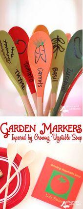 DIY Garden Markers Inspiriert von Lois Ehlert   – selfmade