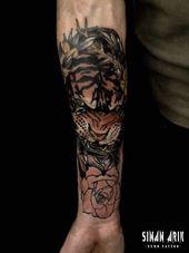 Tiger .. ・ ・ ・ # Tattoo # Tattoo # Tattoo Kunst #istanbul # istanbuldövme #tatt …