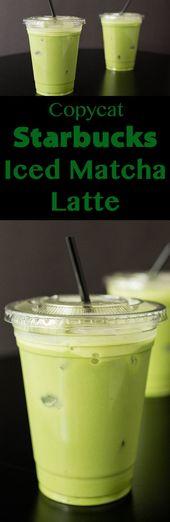 Copycat Starbucks Iced Matcha Latte