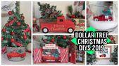 DOLLAR TREE CHRISTMAS DIYS 2019 RED TRUCK DIYS – Y…
