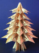 Photo of Origami Maniacs: Origami Weihnachtsbaum: Tannenbaum Von Francesco Guarnieri