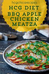 Pizza – 500-Kalorien-Diät-Rezept BBQ Chicken Apple Meatza AP