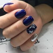 36+ Deep Blue Nail Art Design for Winter Season