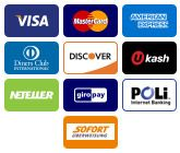 We Accept Paypal Credit Cards Visa Px Mastercard American