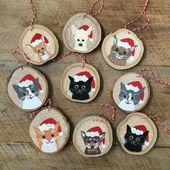 Benutzerdefinierte Haustier Ornament – Christbaumkugel – Katze Ornament – Hund Ornament – Tier Ornament