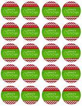 Fiesta de vacaciones de feliz Navidad moderna y festiva Cupcake Toppers gratis _ Etiquetas a través de Kar …   – Christmas food