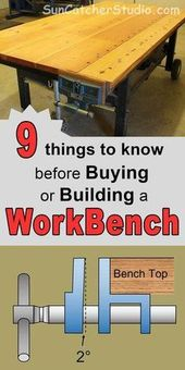 Workbench Plans – (Ideas, Concepts on Moveable, DIY, & Storage Workbenches)