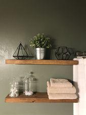 Floating shelves above toilet.   – Bathroom ideas – #bathroom #Floating #Ideas #…   – most beautiful shelves
