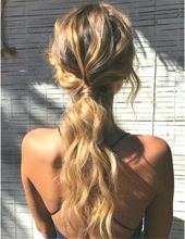 37 Easy Twisted Low Ponytail Hairstyles Latest Fashion Trends for Women sumcoco.com #Uncategorized #promhairstylesponytail
