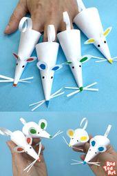 Wie man eine Papiermäusefingerpuppe macht – superschnelle und einfache Papiermäusefingerpuppe…