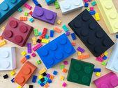 Klassische hölzerne LEGO Blocks Regal Dekor und Buchstützen, Holz Legos, Lego Dekor, Lego Raum, Lego Thema, Holz Regal Dekor, moderne Kinder Dekor   – Products