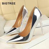 BIGTREE Classic Elegant Heels – Silver Heels