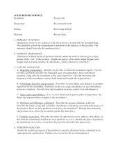 Image Result For Audit Report Sample School  Audit