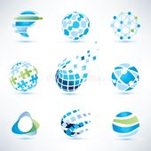 Abstract globe symbol set, communication and technology icons. Internet and soci , #Aff, #set, #communication, #symbol, #Abstract,