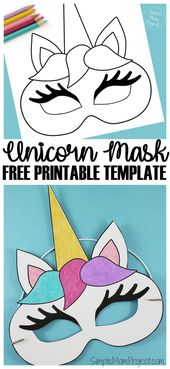 Unicorn Face Masks with FREE Printable Templates – Simple Mom Project
