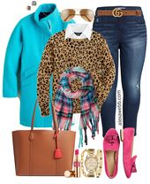 Plus Size Fall Brights Outfit 17