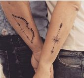 30 Matching Tattoos Every Couple Can Get Behind   – tattoo ideas
