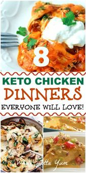 8 keto chicken recipes that are healthy dinner recipes your family with love! Th…