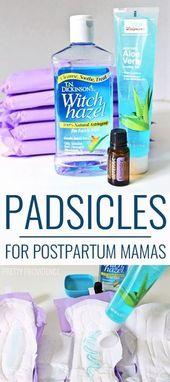 Padsicles – Einfache Anleitung für gefrorene Pads nach der Geburt   – After birth